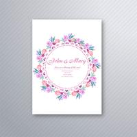 Vacker bröllopsinbjudan dekorativt blommigt kort mall des