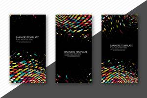 Abstract colorful dotted banners set template vector
