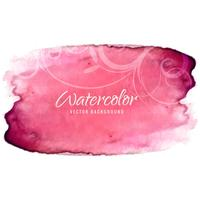 Abstract colorful watercolor stroke background vector