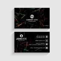 Abstract stylish lines business card template design