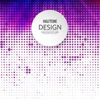 Abstract halftone colorful design