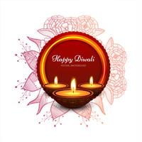 Elegant card design of traditional Indian festival vector backgr