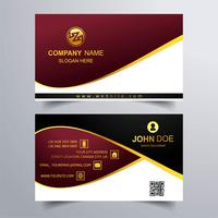 Abstract colorful business card template design illustration