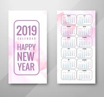 Year 2019, Calendar Design vector