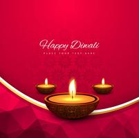 Elegant shiny diwali festival background vector