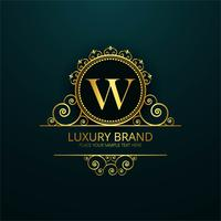 Luxury brand shiny floral design vector