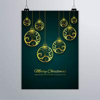 Merry Christmas greeting card colorful background vector