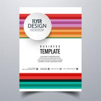 Abstract stylish buisness brochure card template design