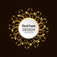Abstract decorative floral frame design