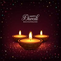 Happy diwali diya oil lamp festival colorful card background