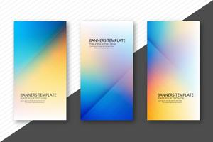 Beautiful colorful banners set template design vector