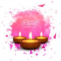 Mooie groetkaart voor achtergrond van festival de gelukkige diwali vec