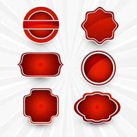 Abstract beautiful red lables set design