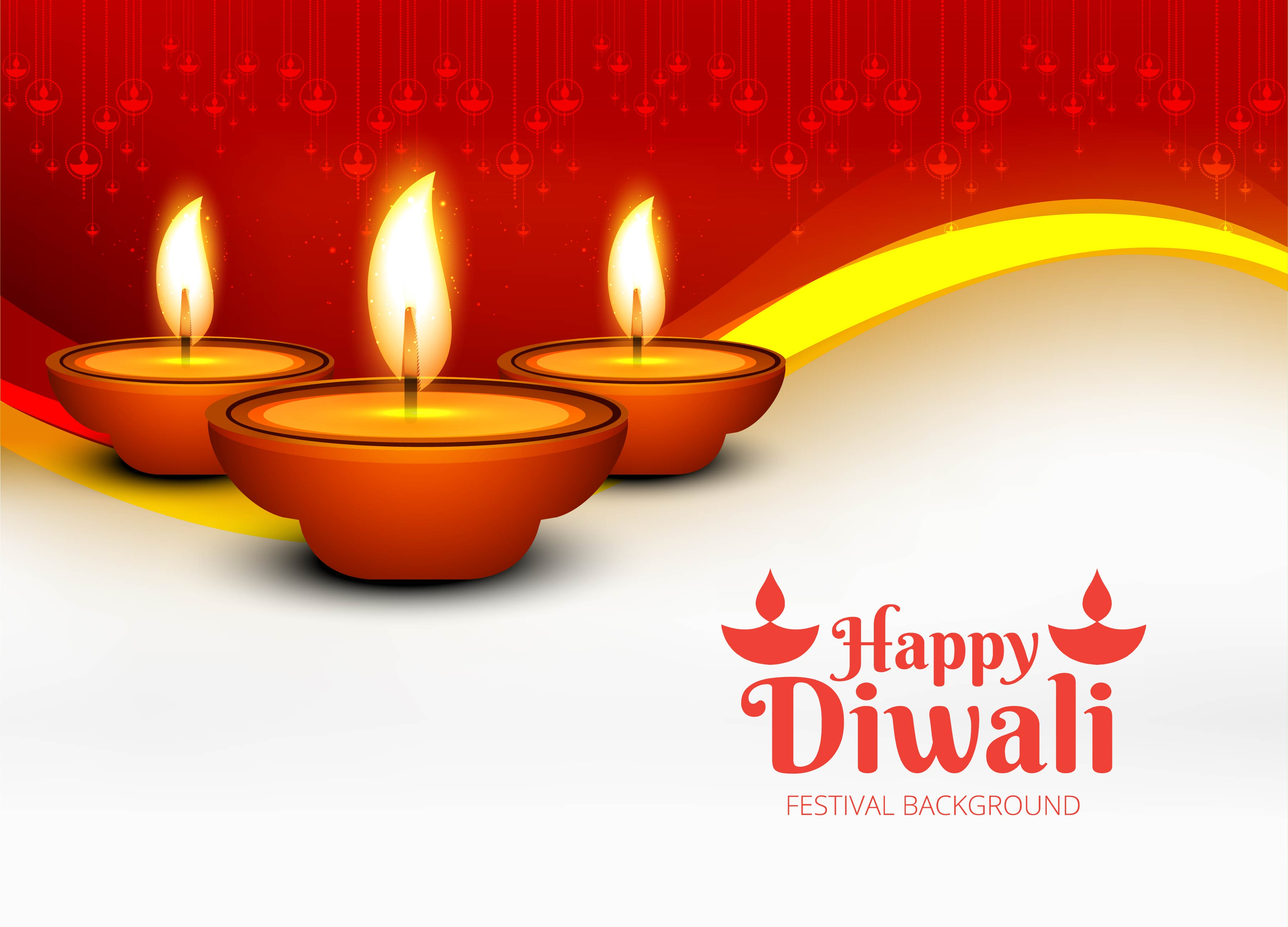 Joyeux Diwali Diya Festival De Lampe A Huile Decoratif Backgro Telecharger Vectoriel Gratuit Clipart Graphique Vecteur Dessins Et Pictogramme Gratuit