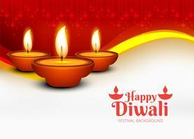Joyeux diwali diya festival de lampe à huile décoratif backgro