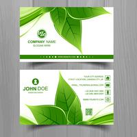 Abstract leaf business card template design
