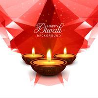 Hermosa tarjeta de felicitación para festival de diwali celebración desig