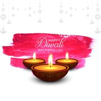 Hermosa tarjeta de felicitación para el festival de fondo diwali