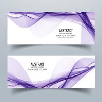 Modern colorful banner set with header wave