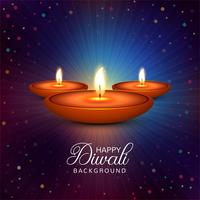 Beautiful Happy diwali diya oil lamp festival background illustr