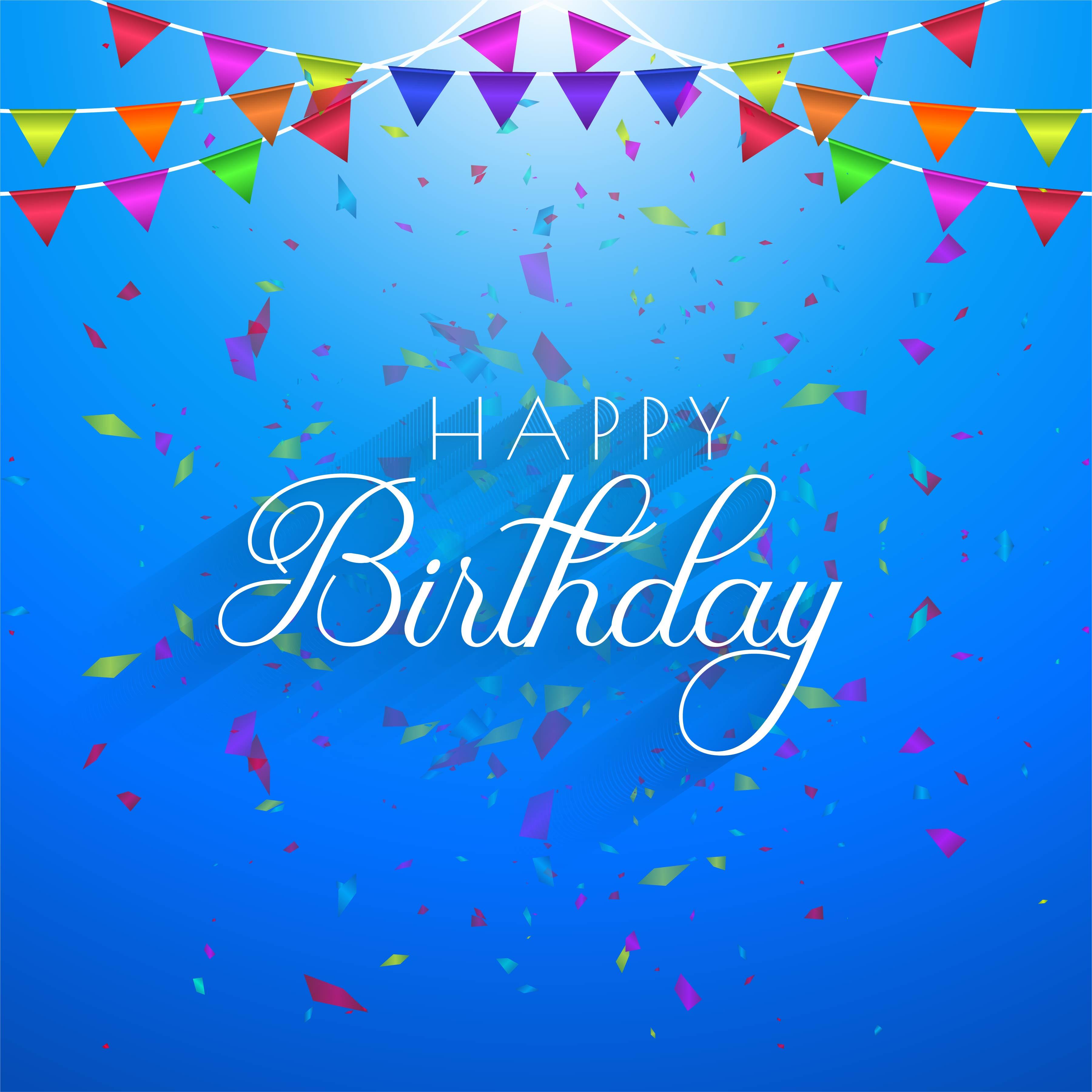 Luxury Party Confetti Colorful Birthday Card Invitation Template Download Free Vectors Clipart Graphics Vector Art
