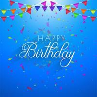 Lycklig födelsedagskortinbjudanmall för festkonfetti