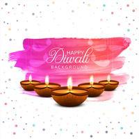 Fondo de tarjeta colorida de diwali diya aceite lámpara festival colorido