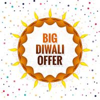 Big Diwali festival offer background vector