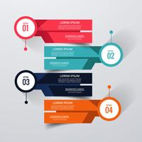 Abstract creative infographic background