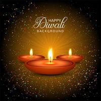 Eleganter glänzender glücklicher diwali Festivalhintergrund