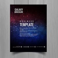Galaxy universe brochure template design vector