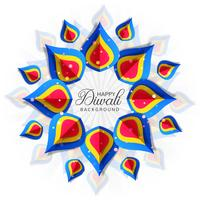 Diwali colorfu card decorativel fundo Vector