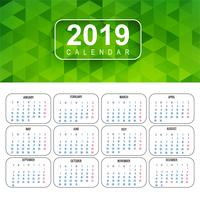 Calendar for 2019  background vector