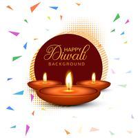 Elegant Happy Diwali decorative colorful background