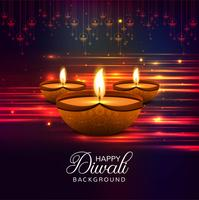Glad diwali diya oljelampa festival glänsande bakgrund