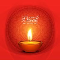 Hermosa tarjeta de felicitación para el festival de celebración de diwali