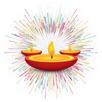 Modern Happy Diwali decorative background