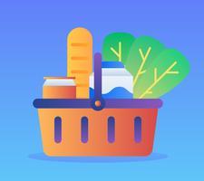Einzigartige Lebensmittelgeschäft-Einkaufsvektoren