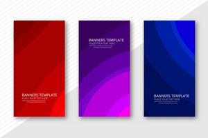 Abstract colorful business banners set design