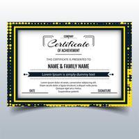 Beautiful certificate template design