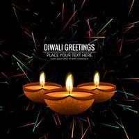 Modern Happy Diwali decorative background vector