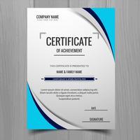 Vector de plantilla de tarjeta de folleto de negocios con estilo moderno