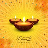 Beautiful Happy Diwali decorative background vector