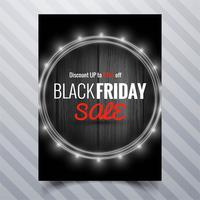 Abstract black friday sale poster brochure template design
