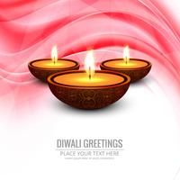 Happy Diwali festival background vector