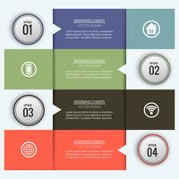 Abstract creative infographic background  vector