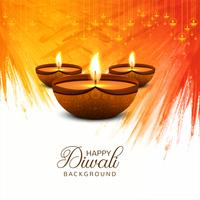 Beautiful Happy Diwali decorative celebration background vector