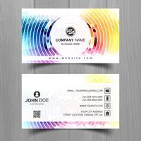 Diseño elegante abstracto de la plantilla de la tarjeta de visita de la onda vector