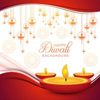 Elegant Happy Diwali decorative colorful background