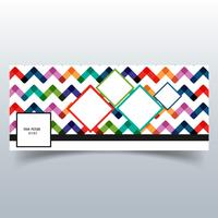 Beautiful colorful pattern facebook timeline banner vector